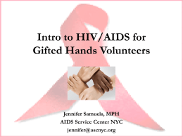 Intro to HIV for Volunteers