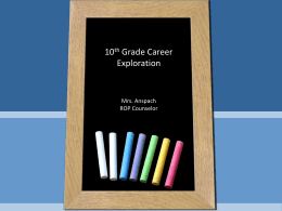 10th Grade Career Exploration