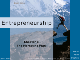 Chapter 8 The Marketing Plan