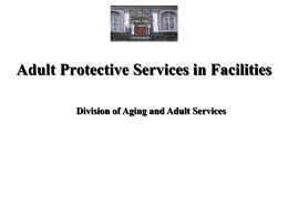 Protecting Adults in Facilities Training