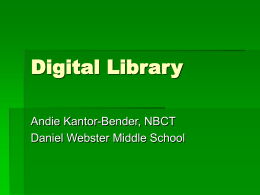 Digital Library - Daniel Webster Middle School