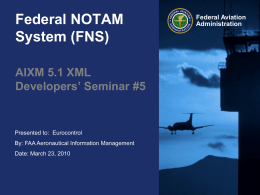 Federal NOTAM System (FNS)