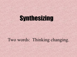 Accommodated Synthesizing