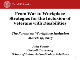 Strategies for Inclusion - University of St. Thomas