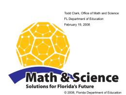 Grades 9-12 Math Standards - Santa Rosa County School District