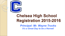 Registration Freshmen Parent Meeting 2015-2016