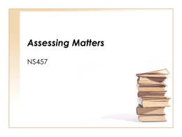 Aassessing matters Powerpoint presentation