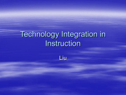 Technology Integration in Instruction