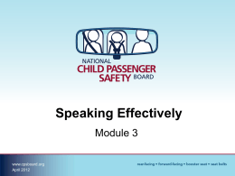 CPSID: Module 3 – Speaking Effectively