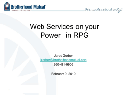 Using Web Services within an RPG Program