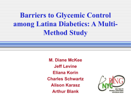 Barriers to Glycemic Control among Latina Diabetics: A Multi