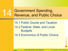 Chapter 14 Government Spending, Revenue, and Public