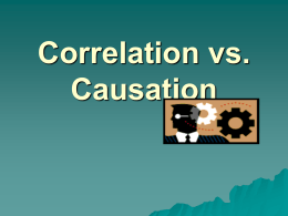 Correlation vs. Causation - Tarleton State University