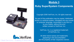 Module 3 Ruby SuperSystem Components