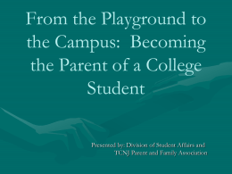 Becoming the Parent of a College Student