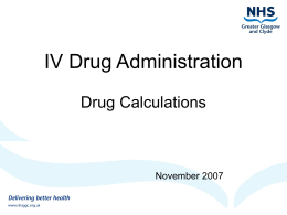 IV Drug Calculations