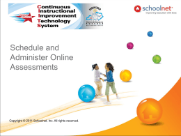 Schedule and Administer Online Assessments
