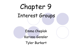 Section 1: The Nature of Interest Groups
