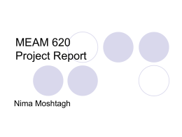 MEAM 620 Progress Report