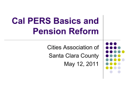 Pension Reform - Cities Association of Santa Clara County
