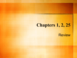 Chapters 1, 2, 25