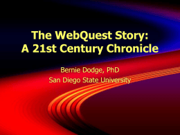 The WebQuest Story