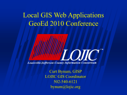 Intro to LOJIC GIS