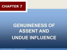 Chapter 013 - Genuineness of Assent