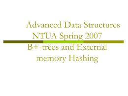 B+-tree and Hashing