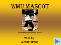 WMU Mascot - Western Michigan University