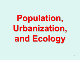 Population, Ecology, Urbanization Enviroment