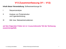 SW-V13-Zusammenfassu.. - Chair of Computational Biology
