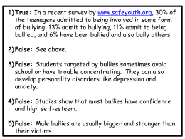 Anti-Bullying Quiz Answer Key