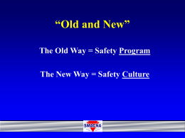 Safety Culture Powerpoint 2015