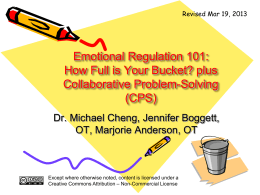 Emotional Regulation 101: How Full is Your Bucket? plus