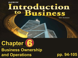 Ch6 - Business Ownership and Operations