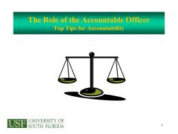 Accountable Officers