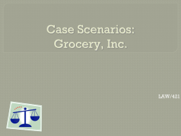 Case Scenarios: Grocery, Inc.
