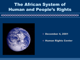 Power Point - Human Rights Library