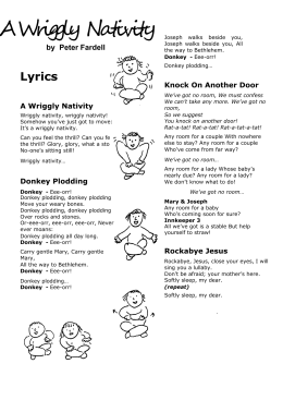 Wriggly Nativity Song Words