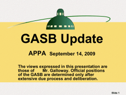 GASB Update - American Public Power Association
