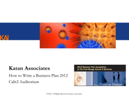 Business Plan - The Paul Merage School of Business