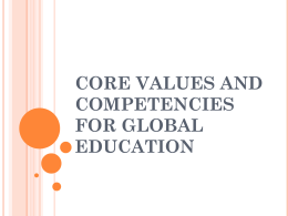 core values and competencies for global education