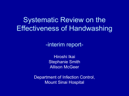 Meta-analysis on the Effectiveness of Handwashing