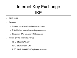 Internet Key Exchange IKE