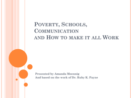 Poverty, Schools, Communication