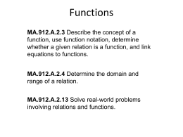 Interpreting Functions (PPT