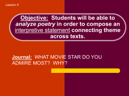 Objective: Students will be able to analyze - crossroads