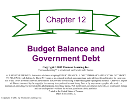 Figure 12.1A Federal Budget Outlays, Receipts, Deficits and