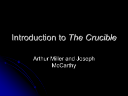 Introduction to The Crucible